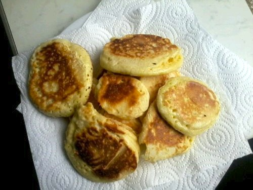 Kefir fluffy USA style pancakes, pancakes, crumpets