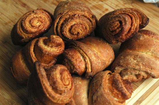 Wholewheat Cinnamon Rolls Hamburg-Style Franzbrötchen