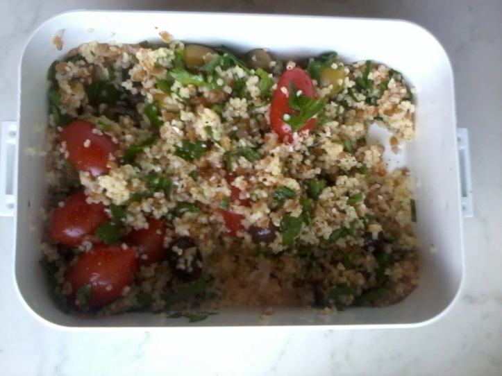 quick tabbouleh lunch
