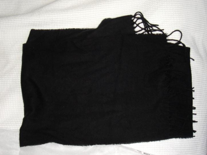 free black scarf