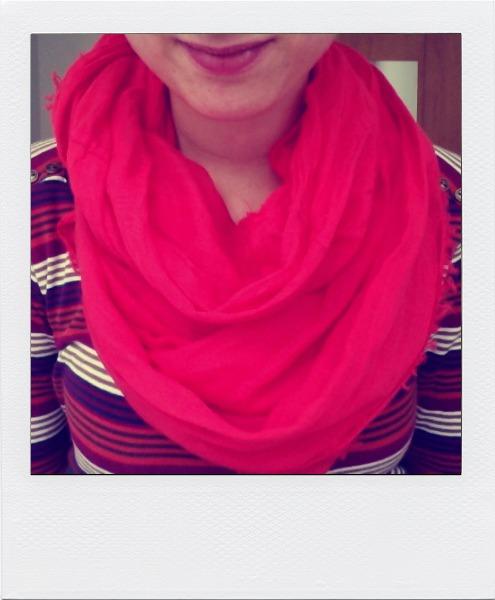 pale vermillion scarf, esprit