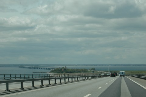 Driving the Great Eastern Belt Bridge, Denmark