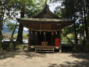 Lakeside shrine, Yufuin