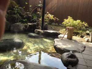 Private use outdoor onsen at Iyotomi Ryokan